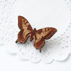 Maria Allen Boutique is a British brand, handcrafting beautiful jewellery and gifts from reclaimed and sustainably sourced British wood. The Great Outdoors, Spring Time, Personalized Gifts, Butterfly, Brooch, Boutique, Jewellery, Image, Beautiful