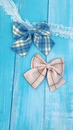 Ribbon Hair Bows, Diy Hair Bows, Diy Bow, Diy Ribbon, Diy Crafts Hacks, Diy Crafts For Gifts, Creative Crafts, Fabric Bows, Fabric Flowers