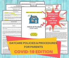 Daycare Contract, Daycare Forms, Home Daycare, Daycare Crafts, Daycare Ideas, Daycare Menu, Preschool Ideas, Parent Handbook, Musik Player