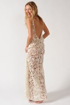 Delphine Manivet Sun Bath Gown (sold with slip), $612, available at Delphine Manivet and by order through Lovely NY.