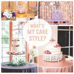 Find what your cake style is and view the trendy looks for the year!