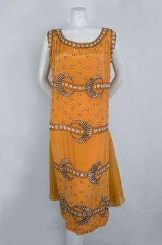 French Deco beaded dress, c.1925, from the Vintage Textile archives.