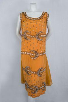 French Deco beaded dress, c.1925