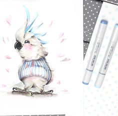 Love the soft Copic colors