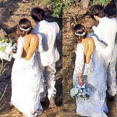 Nikki Reed and Ian Somerhalder Are Married! See Her Gorgeous Dress via @WhoWhatWear