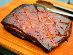 Get out the Buffalo Trace for this Bourbon and maple smoked Pork Belly. Yum!