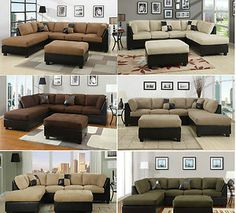 sectional sofa 3pcs microfiber sectionals sofa in 6 colors sofa couch sofas ebay