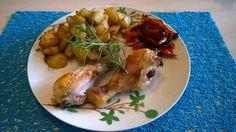 RECIPAY.COM - Pommes de terre rôties et pilon de poulet aux poivrons