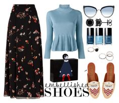 """Magic Slippers: Embellished Shoes"" by joslynaurora on Polyvore featuring moda, RED Valentino, Dries Van Noten, Lulu Guinness, Karl Lagerfeld, Malone Souliers, skirt, slippers y embellishedshoes"