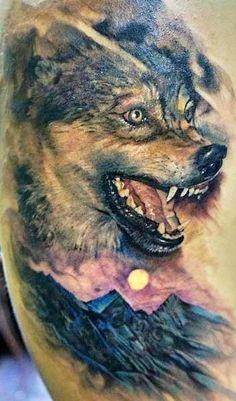 Оскал волка татуировка значение