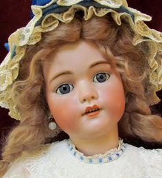 "29"" Antique German Simon Halbig S&H 1079 Doll Near MINT Condit Sleep Blue Eyes"