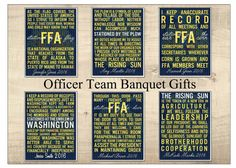 Banquet Gift. Officer Team Stations with Officer Position Name and Year. End of Year. Graduation. Celebration. FFA. Printables. Digital.