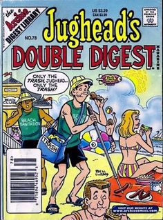 Jughead's Double Digest #78 Archie Comic Books, Old Comic Books, Vintage Comic Books, Vintage Comics, Comic Book Covers, Archie Comics Riverdale, Jughead Comics, Betty Comic, Double Digest
