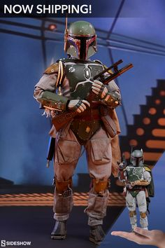 The Boba Fett Deluxe figure from Hot Toys is now shipping at Sideshow! Star Wars Decor, Star Wars Art, Star Trek, Star Wars Figurines, Star Wars Toys, Mandalorian Cosplay, Star Wars Boba Fett, Star Wars Action Figures, Star Wars Poster