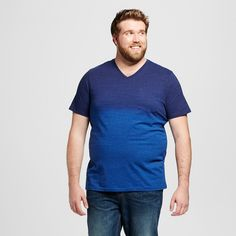 Men's Big & Tall V-Neck T-Shirt Navy Xxlt - Mossimo Supply Co., Size: Xxl Tall, Stargaze Navy