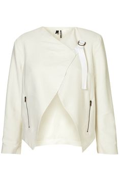 Draped biker jacket £70 Topshop  The sophisticated wedding version of the black leather biker