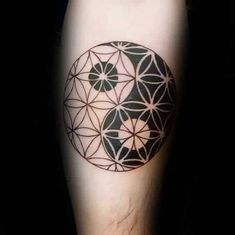 Yin Yang Male Flower Of Life Arm Tattoo IdeasYou can find Flower of life and more on our website.Yin Yang Male Flower Of Life Arm Tattoo Ideas Yin Yang Tattoos, Geometric Yin Yang Tattoo, Ying Und Yang Tattoo, Tatuajes Yin Yang, Geometric Sleeve, Geometric Mandala, Tattoo Life, Arm Tattoo, Flower Of Life Tattoo