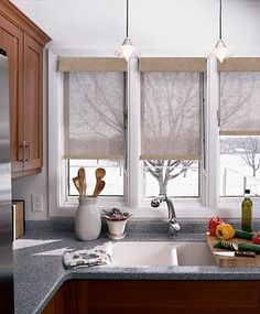 Great blinds--give some privacy, but don't block out the light.  @Budget Blinds - Official.com