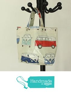 Retro Campervan Personalised Oilcloth Tote Lunch Bag from Yummy Art and Craft https://www.amazon.co.uk/dp/B06XB2BD3W/ref=hnd_sw_r_pi_dp_az0izbHBK43VY #handmadeatamazon