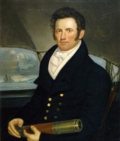 Portrait of Capt. John Howland (1802-1846), by an unknown artist. New Bedford Whaling Museum