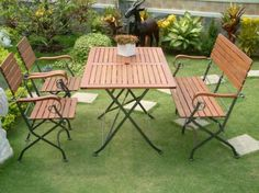 Best Garden Design with Wooden Folding Tables
