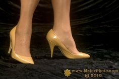 "Camel Lola pumps 4"" heel."