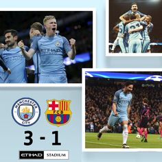 City 3 Barcelona 1 Match action pics #mcfc #barca #ucl  1/11/16