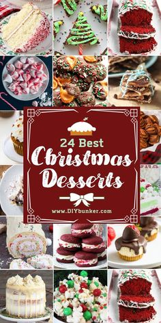 These cute dessert recipes ideas for Christmas are great if you plan on baking for a crowd. desserts, Christmas Dessert Recipes to Make for Holiday Dinners Christmas Desserts Easy, Christmas Party Food, Xmas Food, Christmas Sweets, Christmas Cooking, Holiday Dinner, Christmas Foods, Dessert For Christmas Dinner, Desserts For Dinner Party