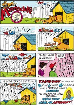 Marmaduke by Brad Anderson Sunday, September 2014 Funny Animal Comics, Dog Comics, Read Comics, Cute Funny Animals, Cartoon Memes, Cartoon Dog, Dog Cartoons, Dog Quotes, Dog Sayings