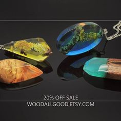 Hey guys! We are having a 20% off sale on everything in our Etsy shop. This is the one time when you can also use your coupons for a double discount... Don't miss your chance! ☺ . . . #resinjewelry #woodenjewelry #resin #jewelry #pendant #colors #colorpop