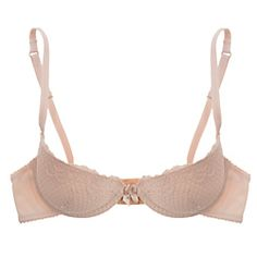 Simple molded cups with a pretty lace overlay make this demi bra from Timpa a go-to favorite t-shirt bra, ideal for smaller cup sizes.