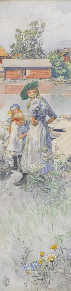 Title Unknown ~ Carl Larsson ~ (Swedish 1853-1919)