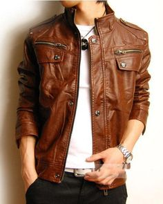 Handmade brown Leather Jacket men leather jacket by Besteshop ...