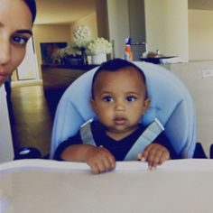 """Kim Kardashian posts new photos of Saint West -- """"Look at his cheeks"""" Kim Kardashian delighted her fans on Monday by posting new photos of her son. #Kardashians #KUWTK"""
