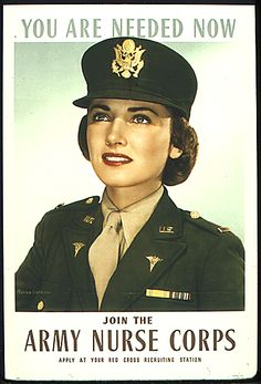 us army women | Learn About Military Posters - Army Nurse Corps