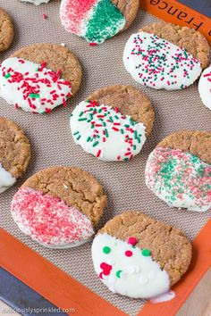 Molasses Cookie with sprinkles!