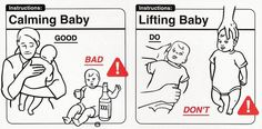Do's And don'ts With Babies. Visual Instructions For New Parents