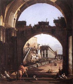 Bernardo Bellotto - near Campidoglio, Rome