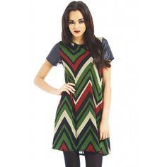 Ax Paris - Pu  Sleeve Aztec Long Sleeve Swing  Dress Street Outfit, Short Sleeve Dresses, Long Sleeve, Every Girl, Swing Dress, Aztec, Fashion Online, Celebrities, Sleeves