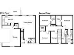 Floor plans for family homes