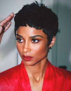 """The Ciara Short Haircut keeps reminding us of a very wise woman's words. It is that, """"A woman who cuts her hair is about to Short Hair Wigs, Short Hair Styles, Ciara And Russell Wilson, Cut Her Hair, Wise Women, Sleek Look, Styling Tools, Black Women Hairstyles, Wig Hairstyles"""