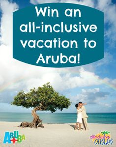 ENDS FRIDAY, JULY 26!! Enter to WIN an all-inclusive 5-night stay at Occidental Grand Aruba, PLUS 2 prize tickets from American Airlines for roundtrip airfare for 2, & hotel/airport transfers! #aioutlet take me to #Aruba  {Click photo to learn how to win!}
