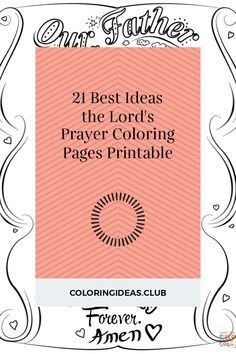 Collection of articles about 21 Best Ideas the Lord& Prayer Coloring Pages Printable. Get this Top and Pin this article right now! Preschool Coloring Pages, Free Printable Coloring Pages, Free Coloring Pages, Coloring Books, Free Printables, Hannah Bible, Prayer For Fathers, Doodle Coloring, Catholic Prayers