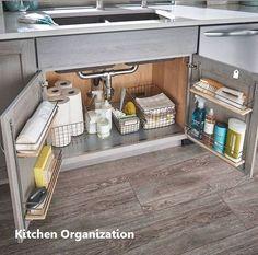 New Kitchen Organization Ideas Kitchen Organizing Small Kitchen Organization, Diy Kitchen Storage, Diy Kitchen Decor, Home Organization, Kitchen Ideas, Kitchen Hacks, Kitchen Inspiration, Kitchen Layout, Kitchen Styling