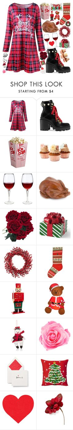 """""""My inspiration"""" by skyl19 ❤ liked on Polyvore featuring Gucci, Grandin Road, Improvements, Kurt Adler, National Tree Company, Midwest of Cannon Falls, Smythson, Arlee Home Fashions and Holiday Lane"""