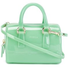 Furla Mini Candy Crossbody Bag (1,300 EGP) ❤ liked on Polyvore featuring bags, handbags, shoulder bags, green, mini shoulder bag, furla purses, green crossbody, mini purse and green cross body purse