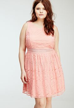 Floral Lace Overlay Dress | Forever 21 PLUS - 2000135763 bridesmaid dress!!!!