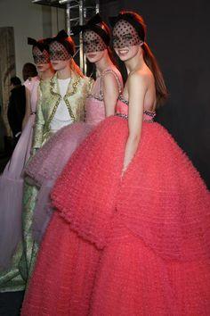 Giambattista Valli Haute Couture Spring 2015 - Backstage