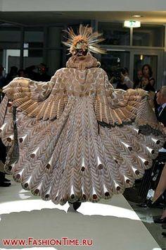 "Irina Krutikova, fur designer, 1992 ""Birds"" Collection"