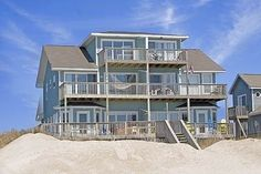 North Topsail Beach Vacation Rental - VRBO 280830 - 5 BR Topsail Island House in NC, Dolphin Daze - Oceanfront Family Owned Beach House!